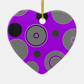 Crazy Beautiful Abstract Ceramic Heart Ornament