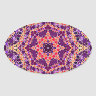 Crazy Beautiful Abstract Pattern Oval Sticker