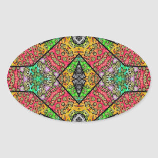 Crazy Beautiful Abstract Oval Sticker