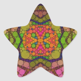 Crazy Beautiful Abstract Star Stickers
