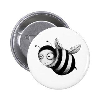 Crazy Bee 6 Cm Round Badge