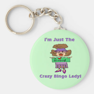 Crazy Bingo Lady Key Ring