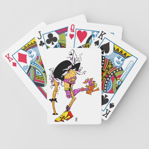 Crazy Bird Dancing with Tango Shoes Poker Cards