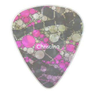 Crazy Bling Abstract Pearl Celluloid Guitar Pick