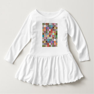 Crazy Block Quilt Quilting Funny Ruffle Dress