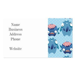 Crazy Blue Monsters Fun Creatures Gifts for Kids Business Card Templates