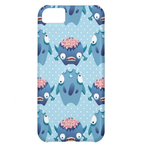 Crazy Blue Monsters Fun Creatures Gifts for Kids iPhone 5C Cases