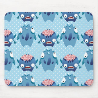 Crazy Blue Monsters Fun Creatures Gifts for Kids Mousepads