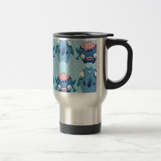 Crazy Blue Monsters Fun Creatures Gifts for Kids Mugs