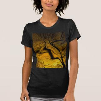crazy blurred tree, golden t shirts