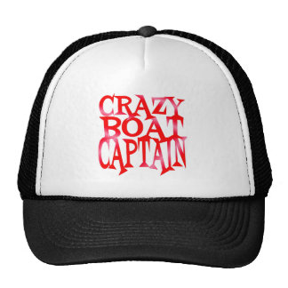 Crazy Boat Captain in Crazy Red Cap