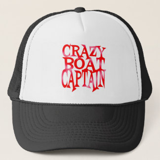 Crazy Boat Captain in Crazy Red Trucker Hat