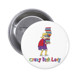 Crazy Book Lady Buttons