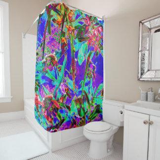 Crazy Bright Rainbow Garden Shower Curtain