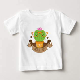 crazy cactus lady banner baby T-Shirt