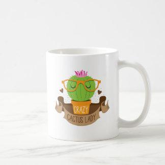 crazy cactus lady banner coffee mug
