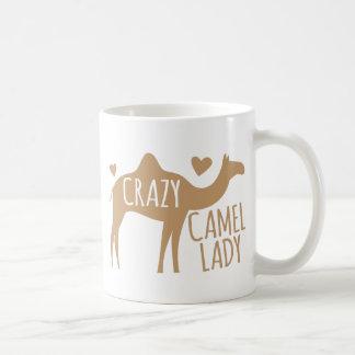 Crazy Camel Lady Basic White Mug