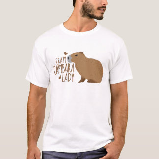 crazy capybara lady T-Shirt