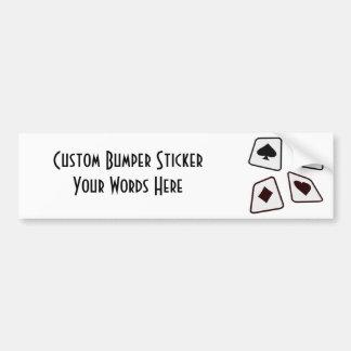 Crazy Cards - Black White & Red Bumper Sticker