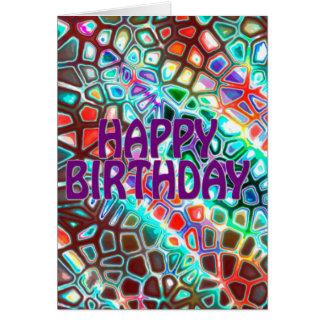 Crazy  Carnival Colored Card