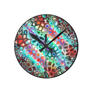 Crazy  Carnival Colored Clock