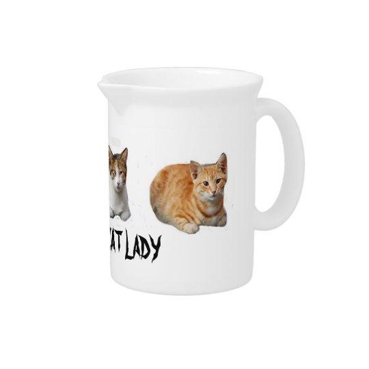Crazy Cat :adu Drink Pitcher