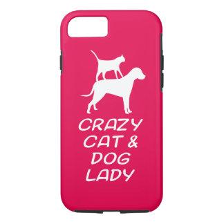 CRAZY CAT & DOG LADY iPhone 7 CASE
