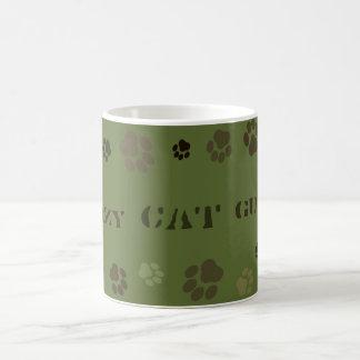 """""""Crazy Cat Guy"""" Pawprint Camouflage Mug"""