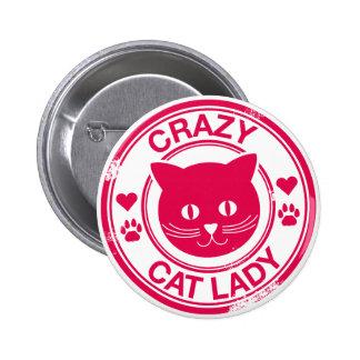 Crazy Cat Lady 6 Cm Round Badge