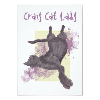 Crazy Cat Lady Birthday Invites