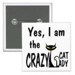Crazy Cat Lady Buttons