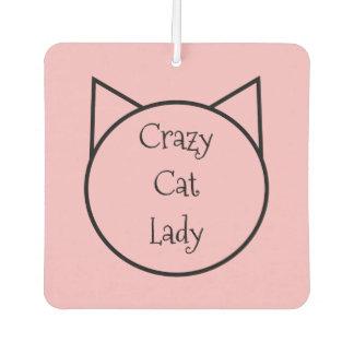 Crazy Cat Lady Car Air Freshener