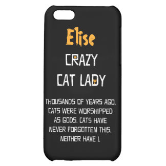 Crazy Cat Lady Customizable iPhone 5C Cover