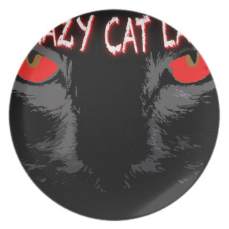 Crazy Cat Lady Dinner Plate