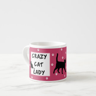 Crazy Cat Lady Espresso Mug