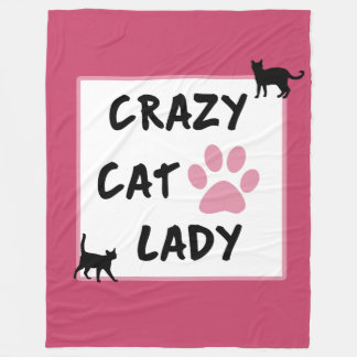 Crazy Cat Lady Fleece Blanket