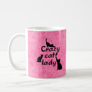Crazy Cat Lady Fun Funny and Cool Playful Cats Coffee Mug