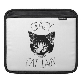 Crazy Cat Lady, Funny Kitten Face Sleeves For iPads