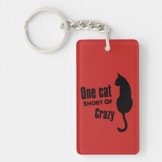 Crazy Cat Lady Funny Meow Keychain