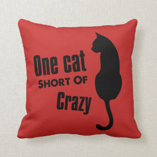 Crazy Cat Lady Funny Meow Throw Pillow
