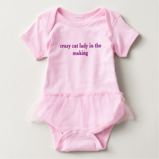 Crazy Cat Lady in the Making baby tutu one piece Baby Bodysuit