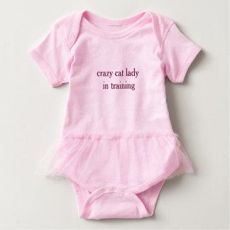 Crazy Cat Lady in Training- Baby Tutu Bodyuit Baby Bodysuit