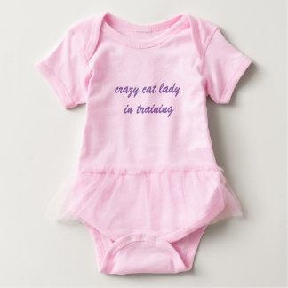 crazy cat lady in training baby tutu- script font baby bodysuit