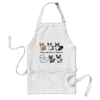 Crazy Cat Lady in Training (design your own cat) Standard Apron