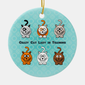 Crazy Cat Lady In Training Ornament
