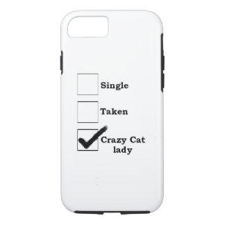 crazy cat lady iPhone 7 case