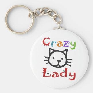 Crazy Cat Lady Key Ring