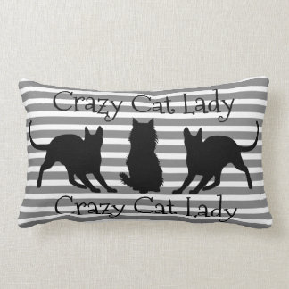 Crazy Cat Lady Lumbar Pillow