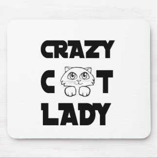 crazy cat lady mouse pad