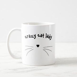 """crazy cat lady"" mug"